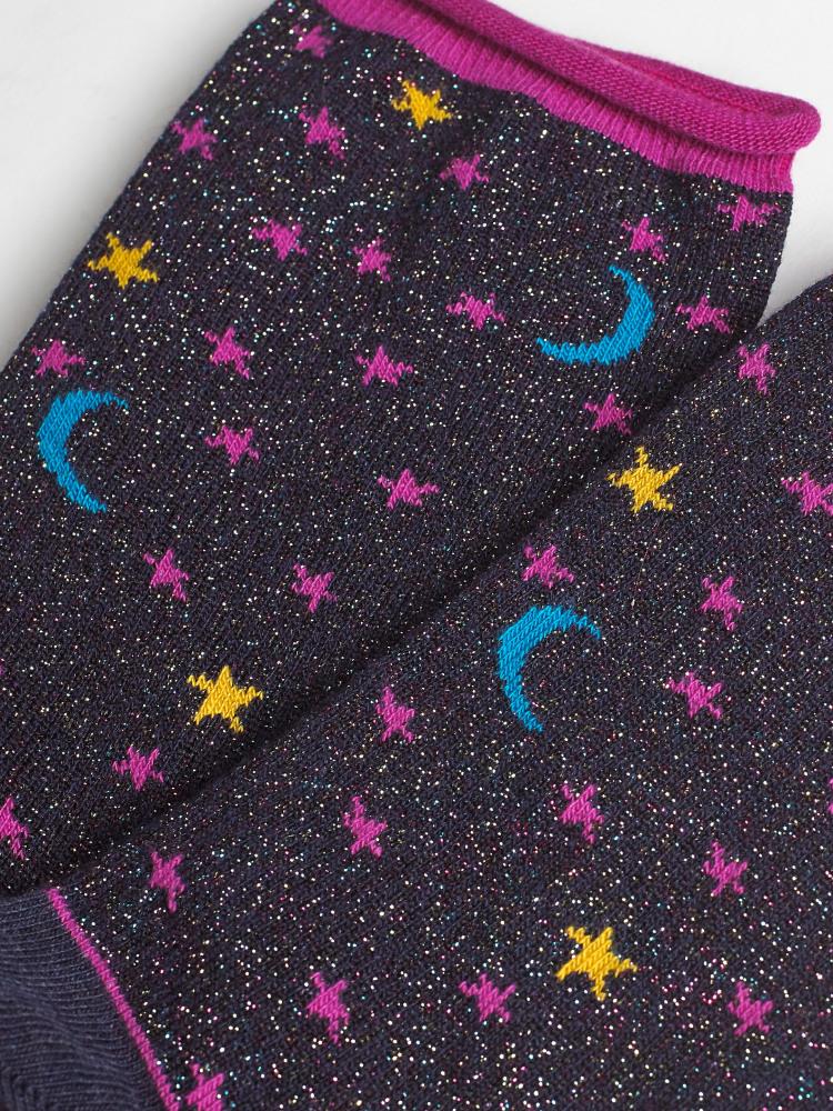 Sparkle Stars & Moon Sock