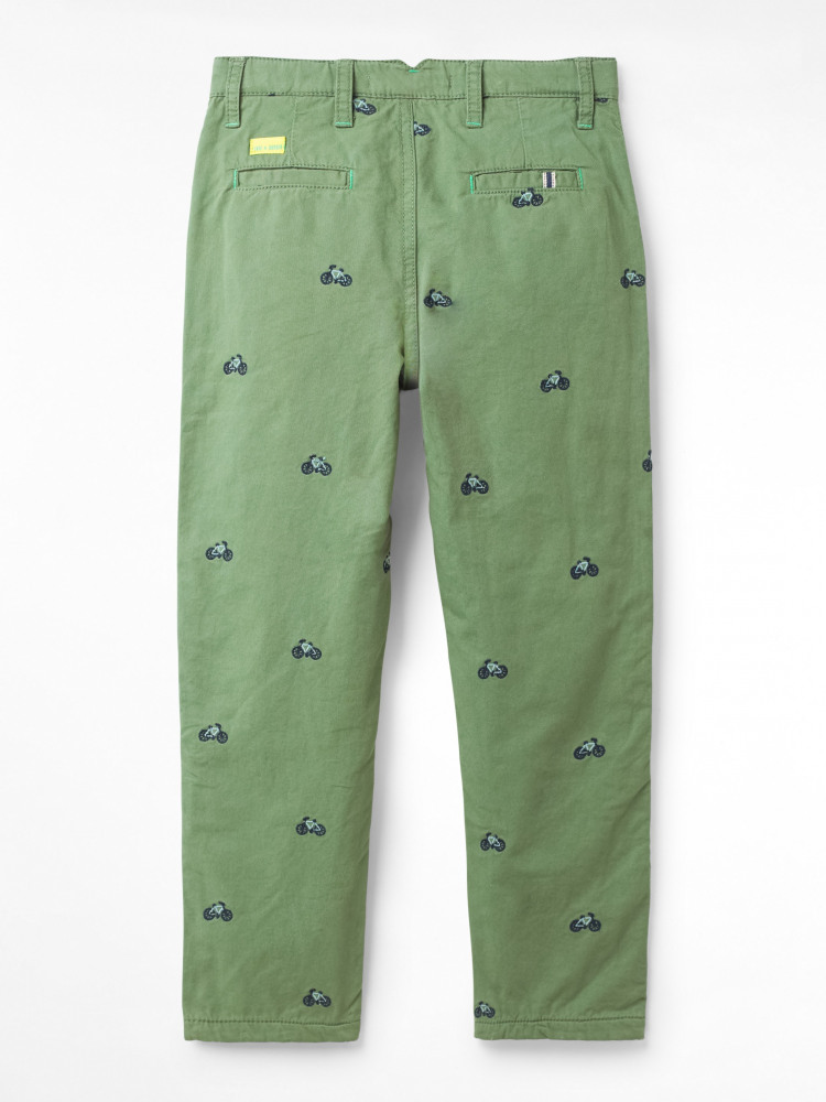 Bike Embroidered Trouser
