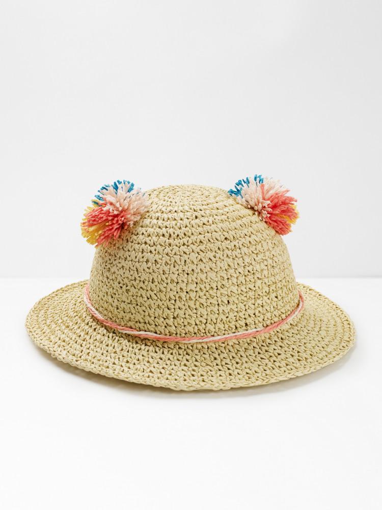Kids Pom Ears Hat