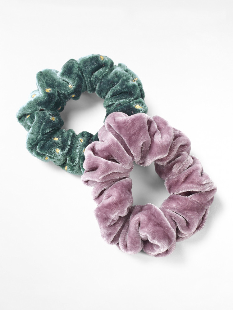 Velvet Off Cut Scrunchies