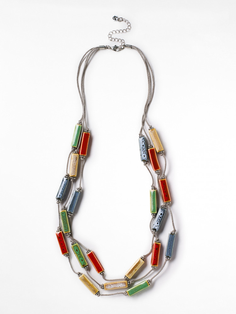 Multi Lagoon Ceramic Necklace