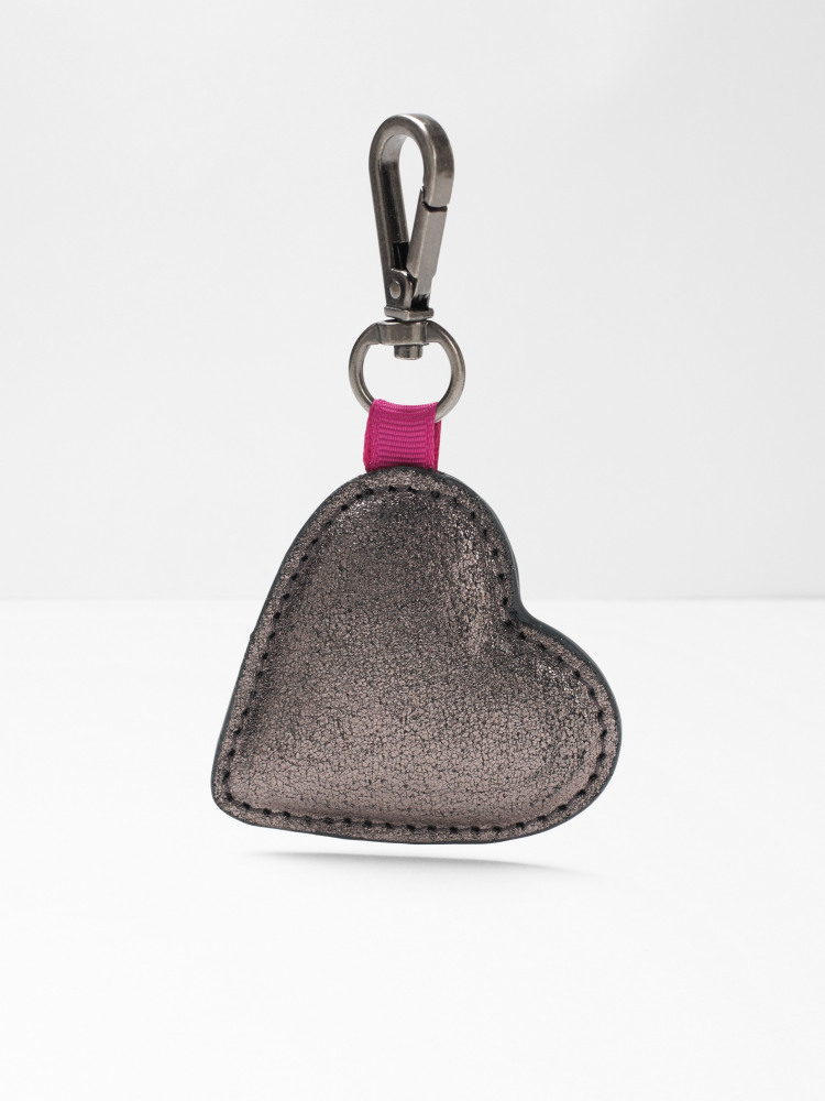 Heart Leather Bag Charm