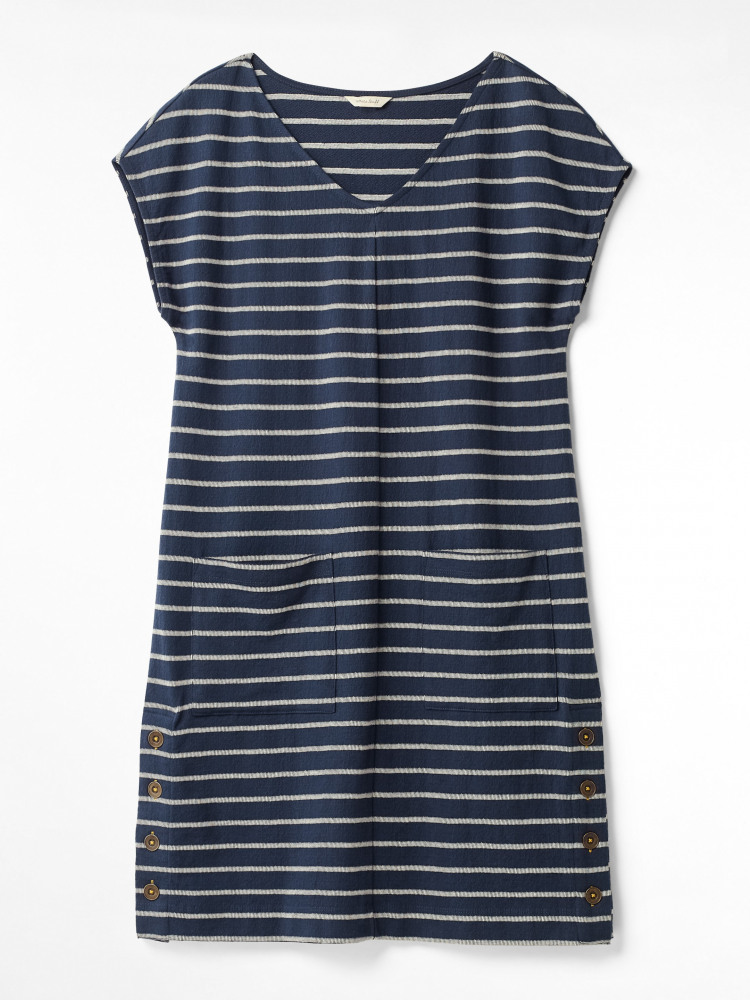 Day To Day Stripe Jersey Dress