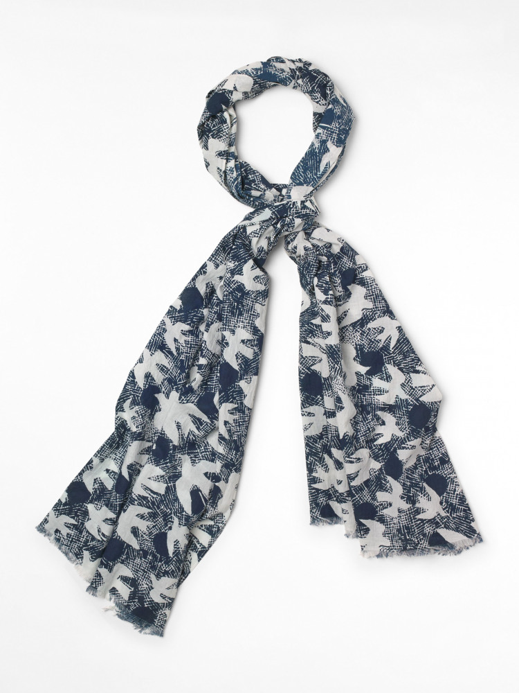 Migrating Bird Cotton Scarf
