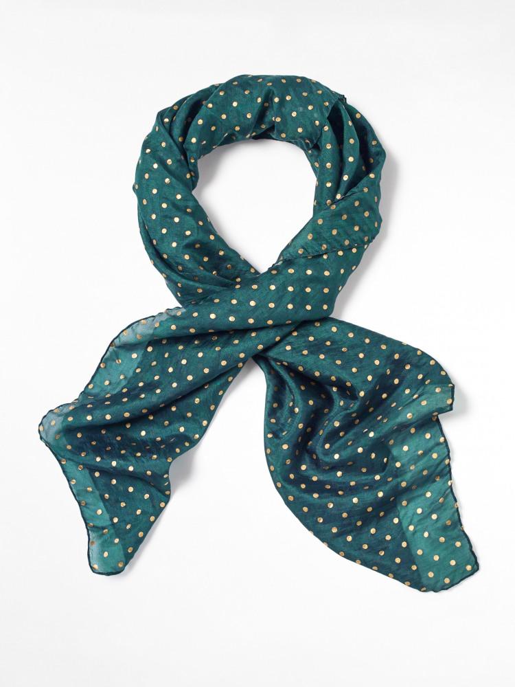 Spot Pleated Silk Neckerchief
