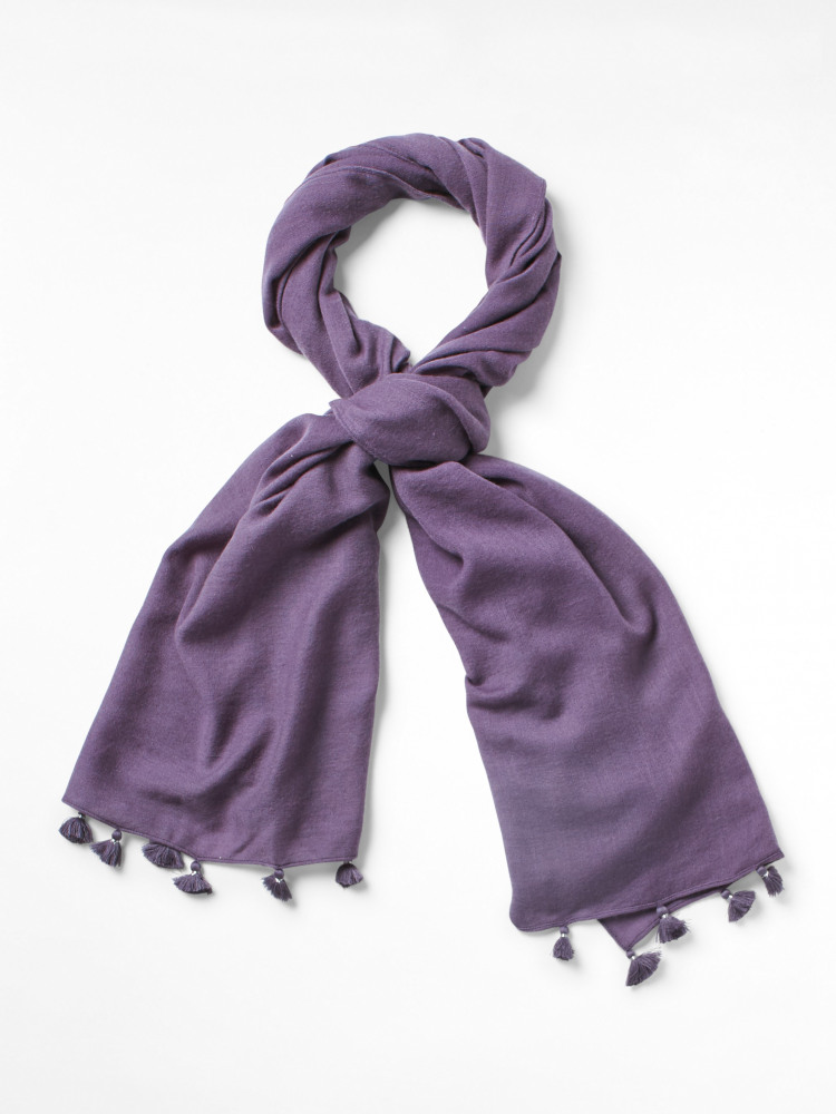 Fine Wool Sateen Scarf