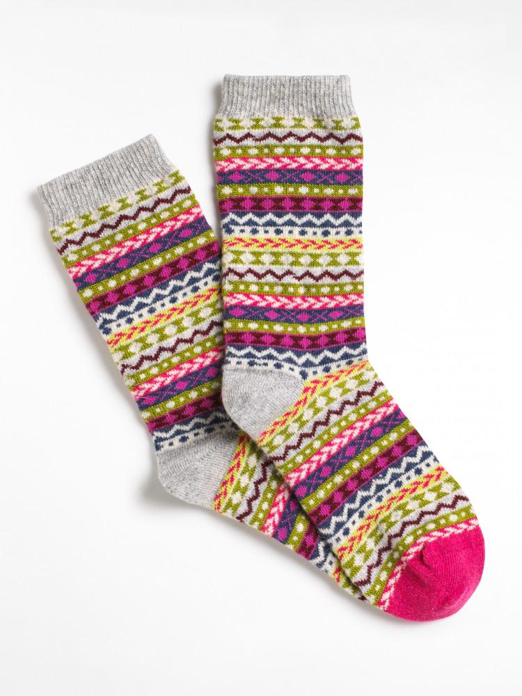 Cosy Fairisle Boot Sock