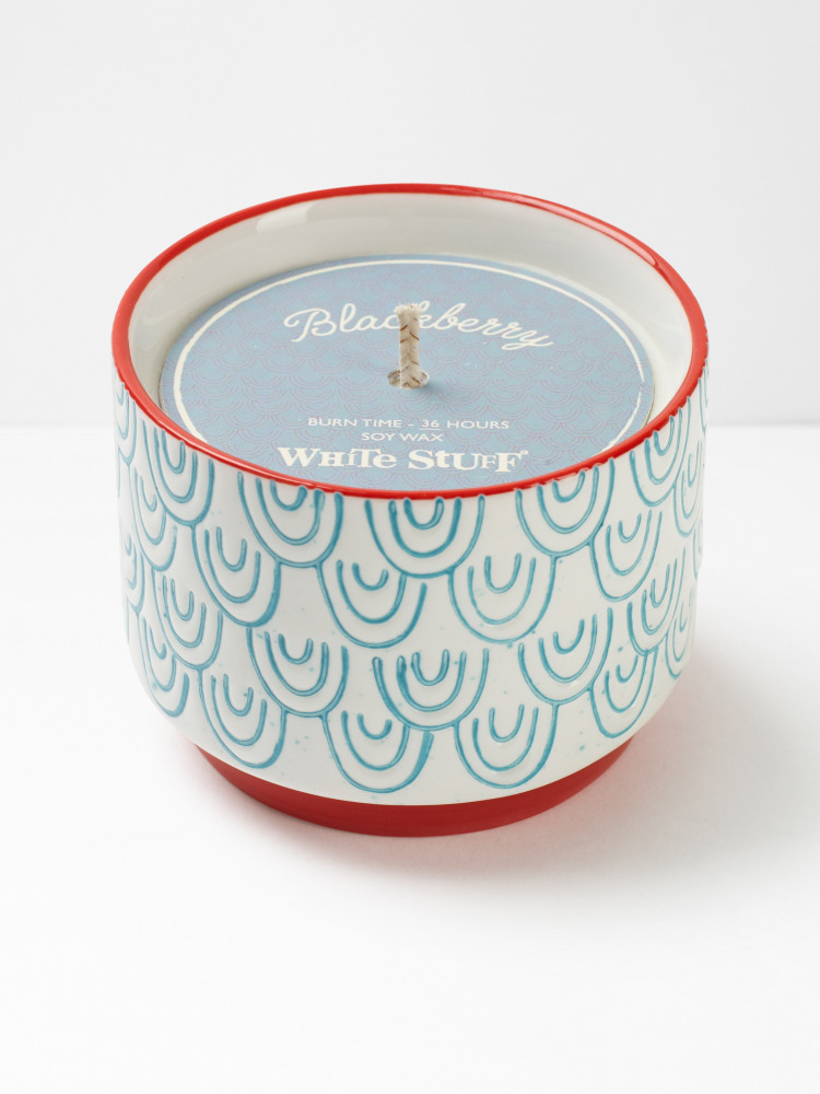 Scallop Etched Candle