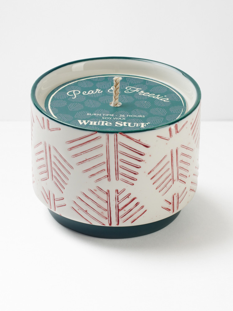 Leaf Line Etched Candle