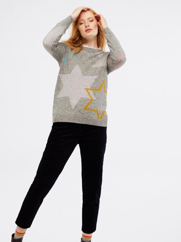Tweedy Star Jumper