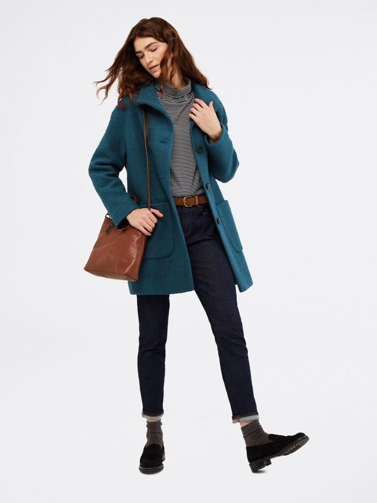 Boucle Cocoon Coat