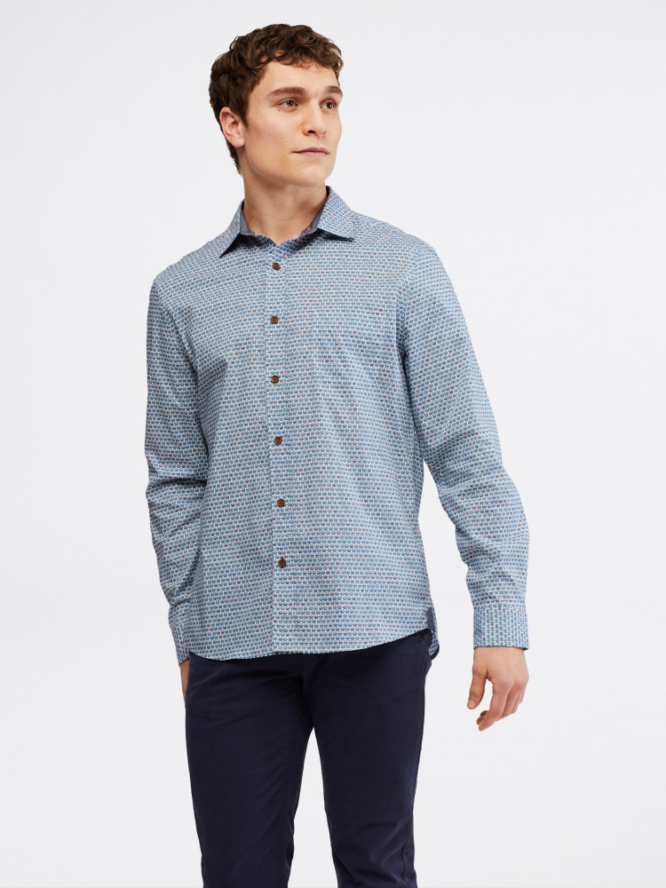 Fish Bowl Geo Print Shirt