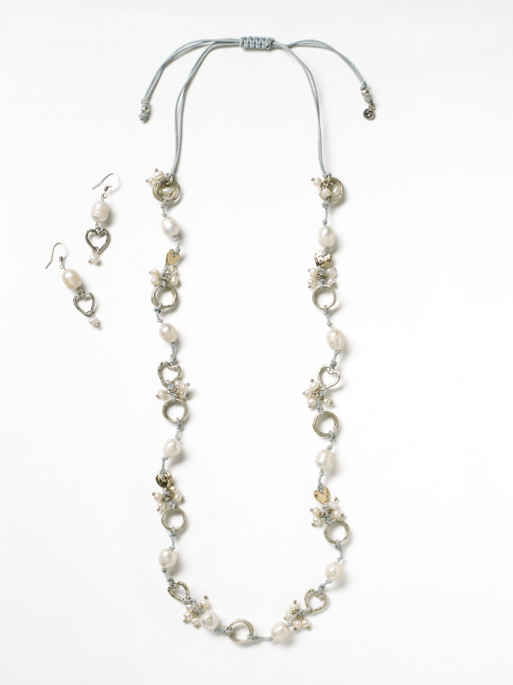 Cord & Pearl Cluster Set
