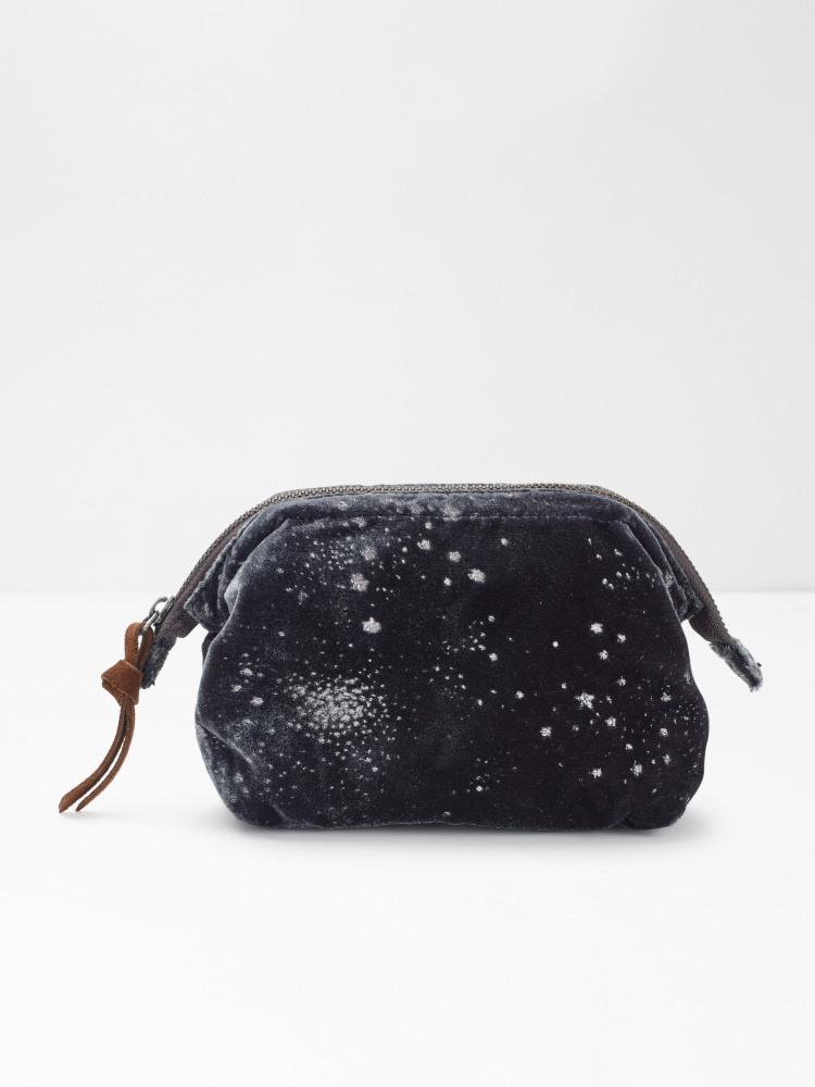 Spot Foil Velvet Makeup Bag