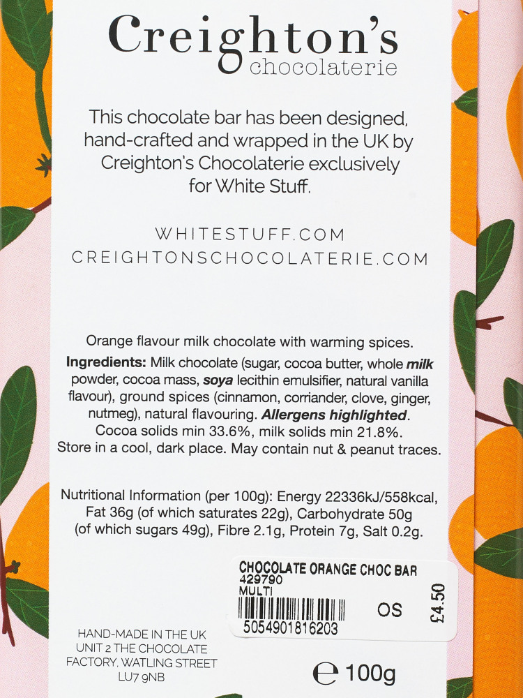 Chocolate Orange Choc Bar