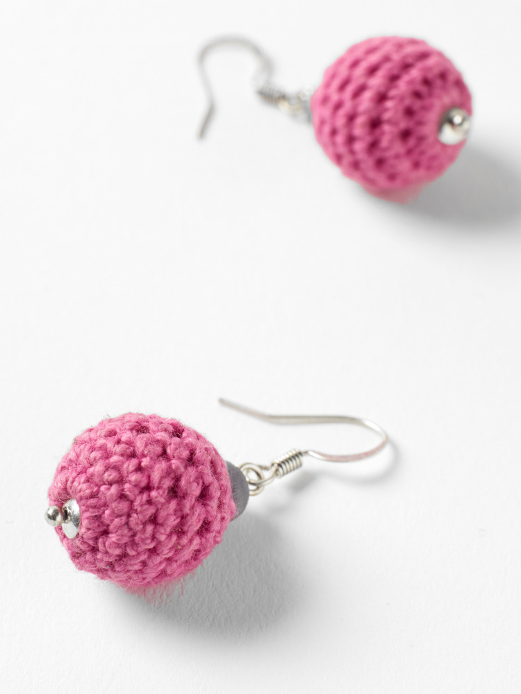 Crochet Bobble Earrings