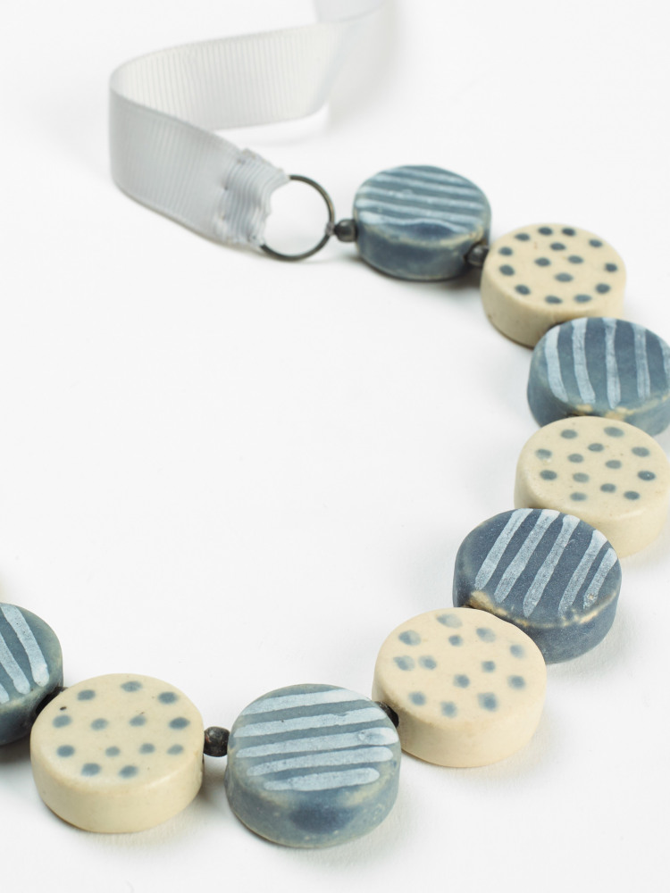 Spot & Stripe Ceramic Necklace