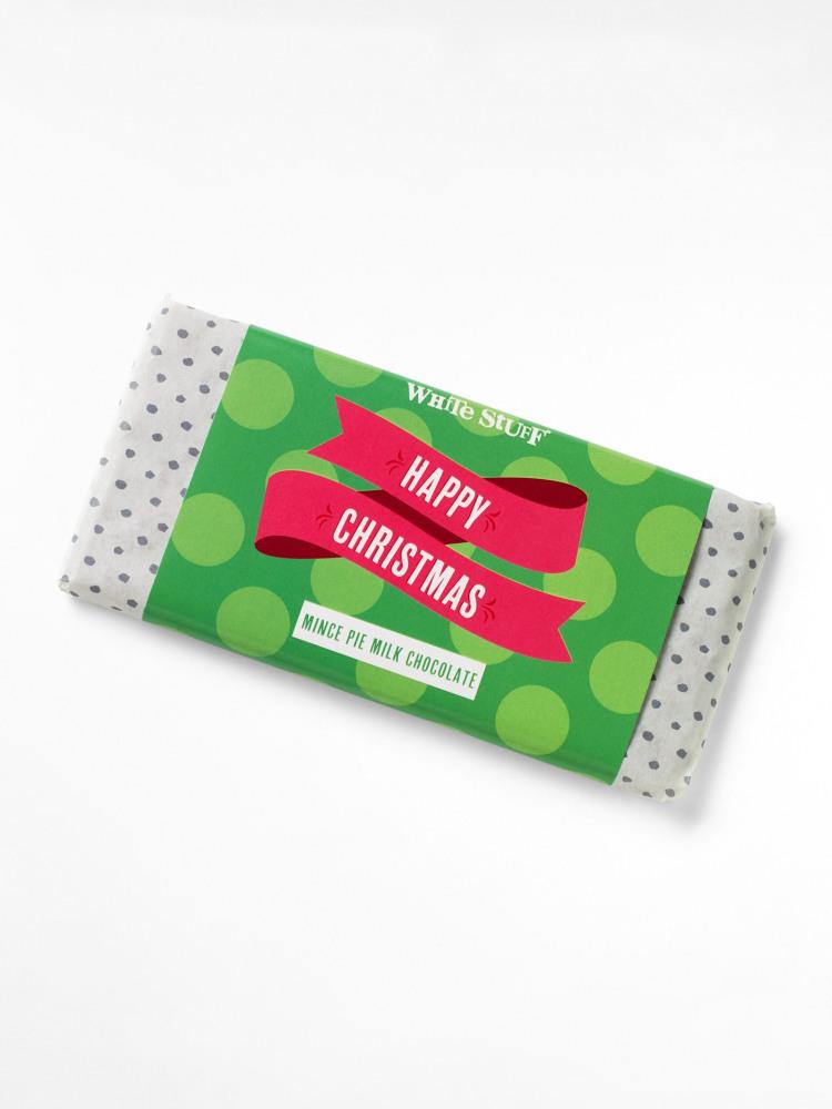 Happy Christmas Chocolate Bar