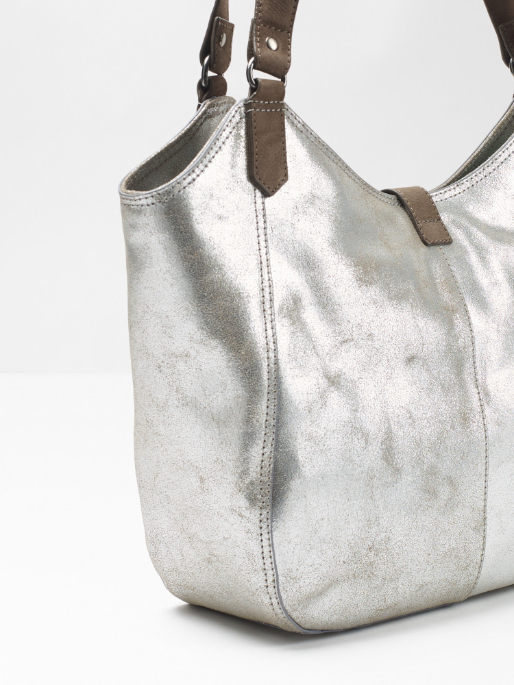 Bonnie Metallic Leather Hobo