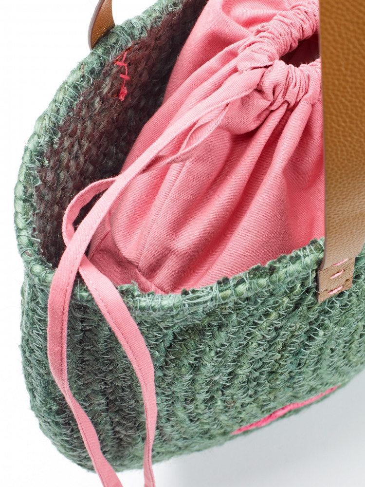 Amal Half Moon Jute Bag