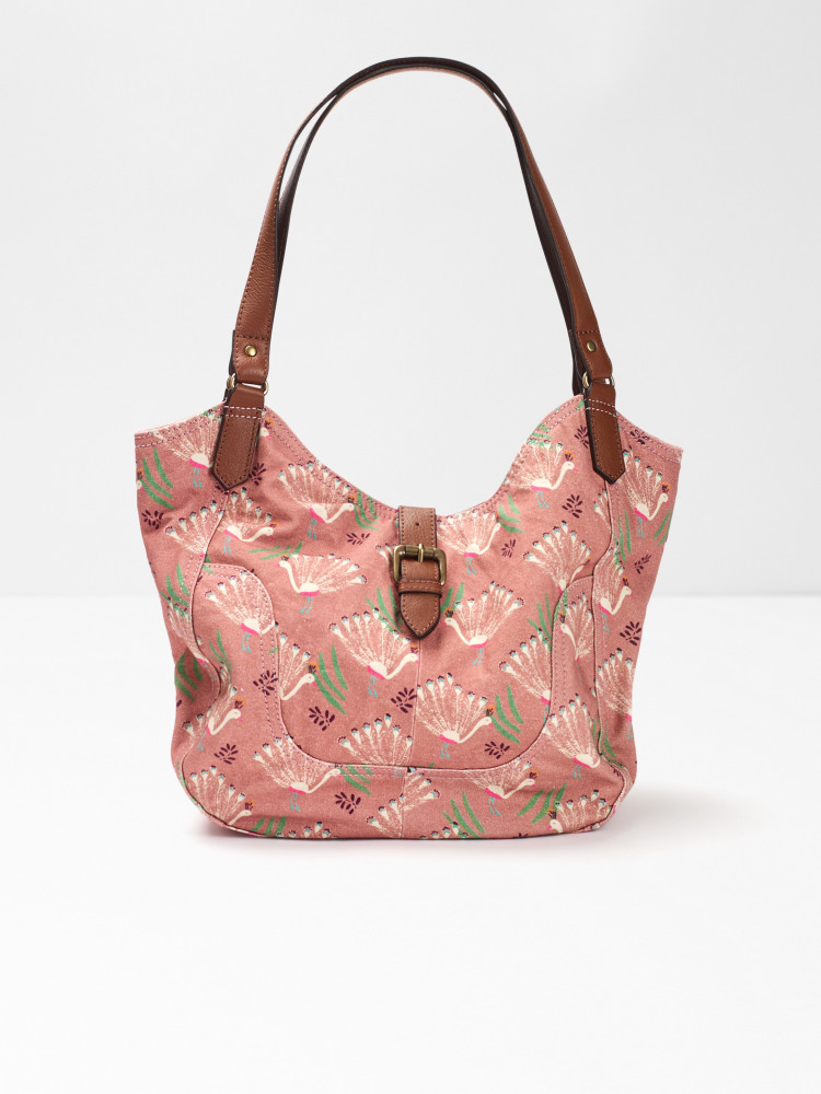 Carrie Printed Canvas Hobo