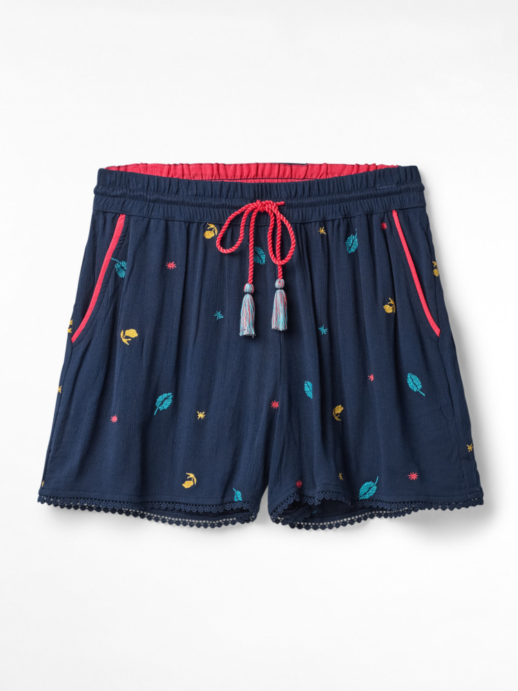 Tropical Embroiderd Shorts