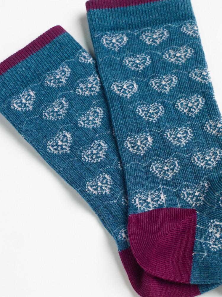 Pointelle Hearts Sock