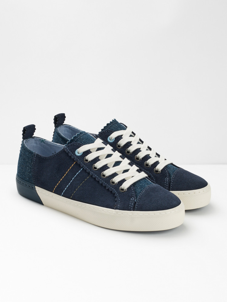 Bailey Suede Lace Up Trainers
