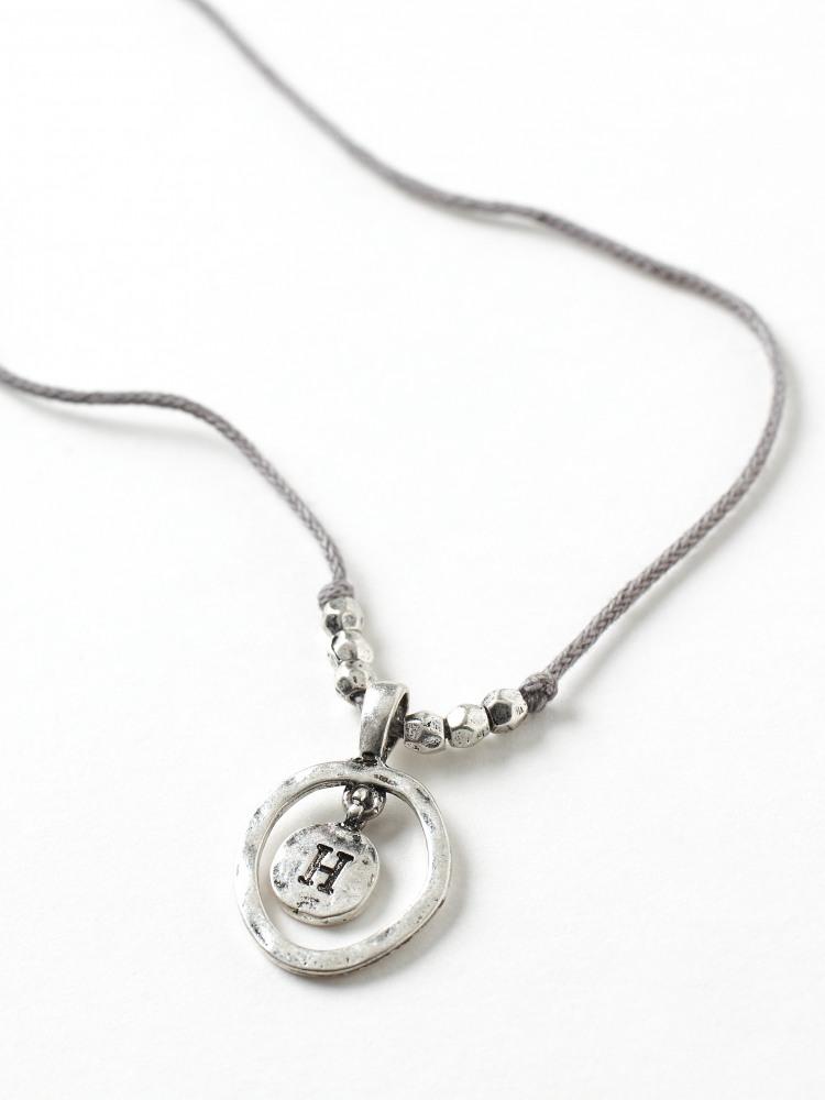 Alphabet Letter Necklace H