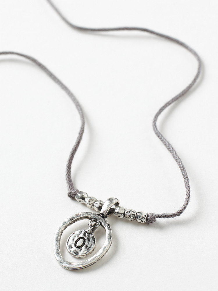 Alphabet Letter Necklace O
