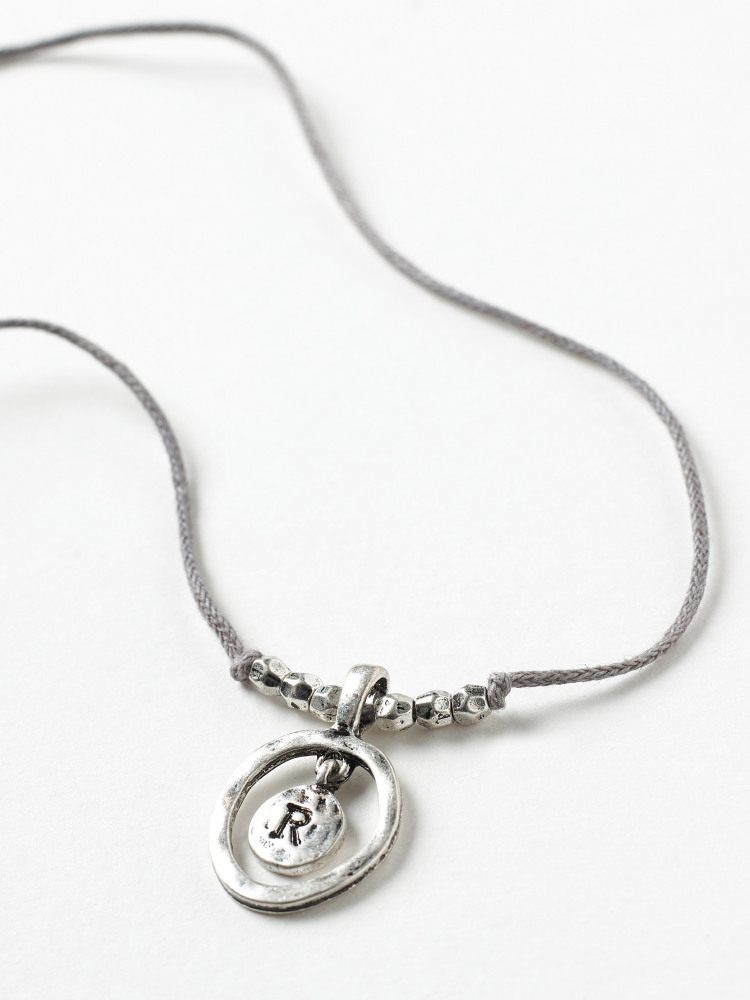 Alphabet Letter Necklace R