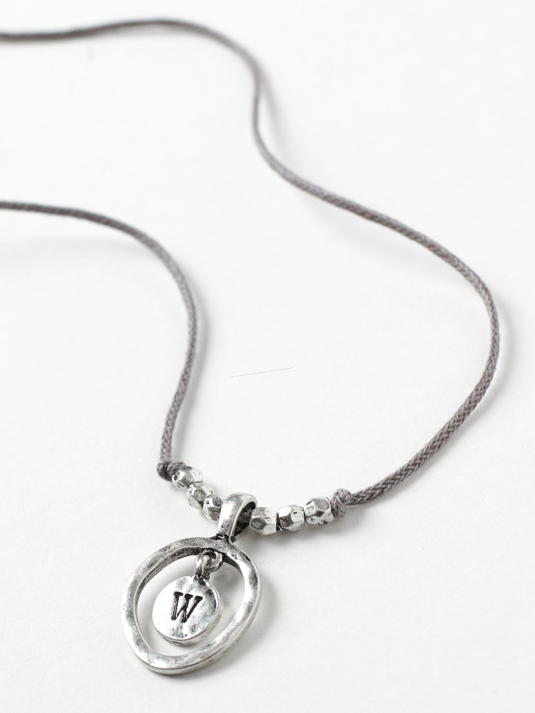 Alphabet Letter Necklace W