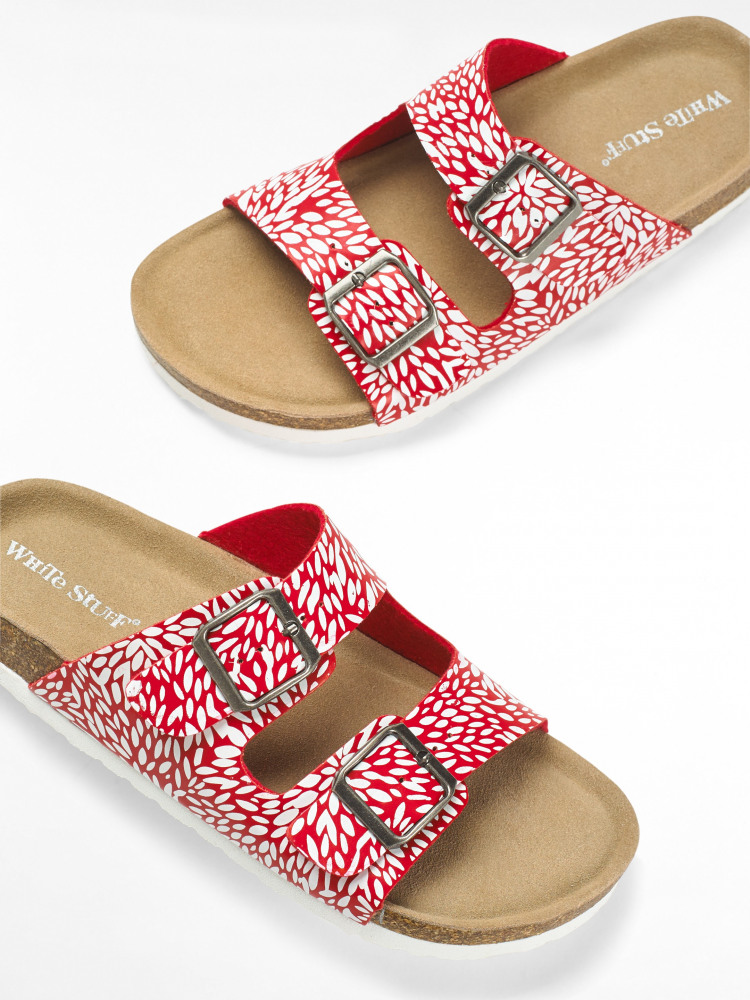 Double Strap Printed Footbed