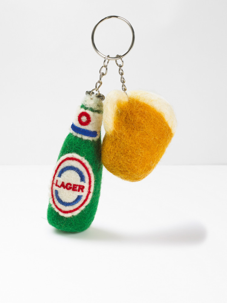 Beers and Cheers Keyring