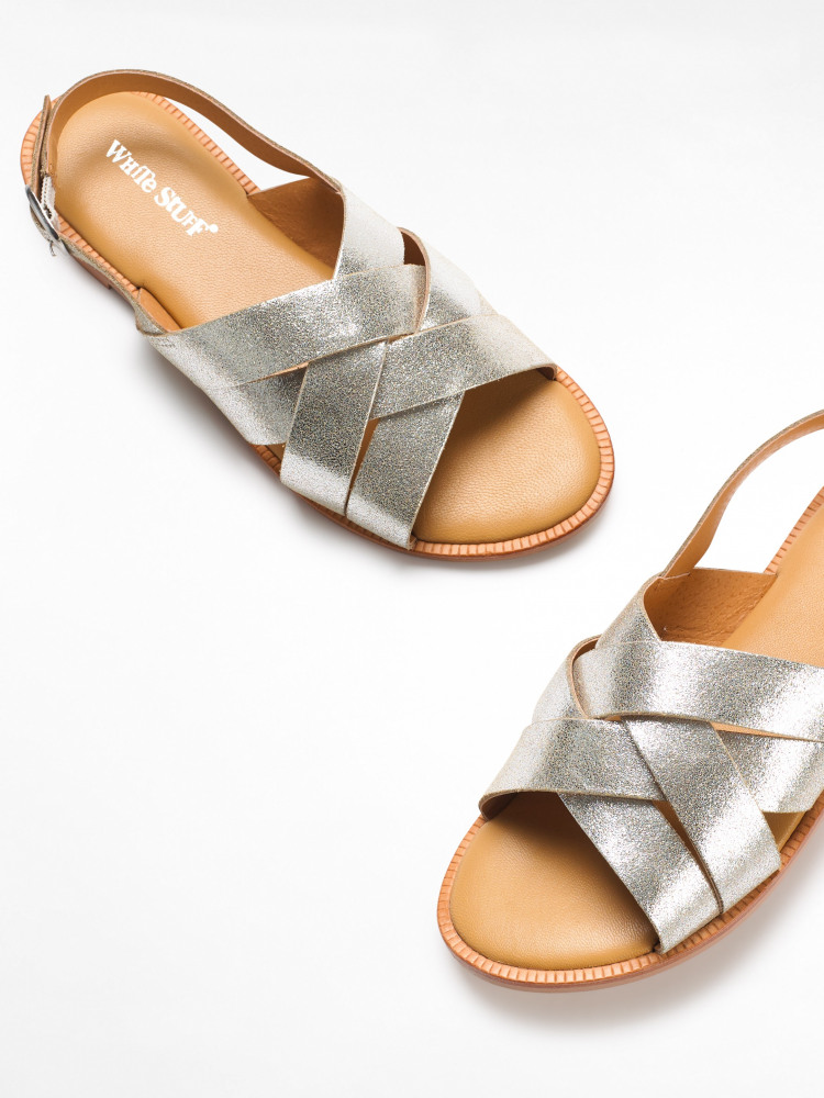 Orla Strappy Sandal (Silver) | White Stuff