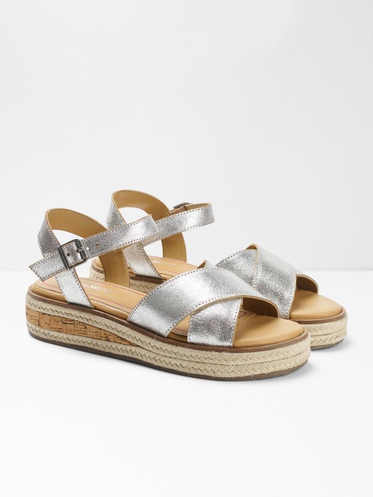 Zena Jute Flatform Sandal (Silver