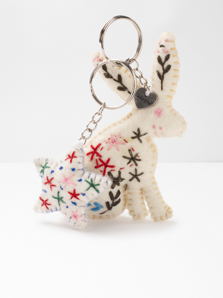 Decorative Rabbit Keyring