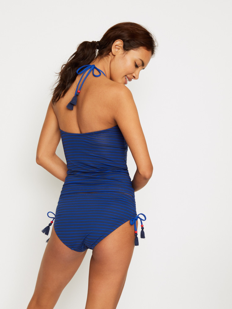 Stripe Multi-Way Tankini Top