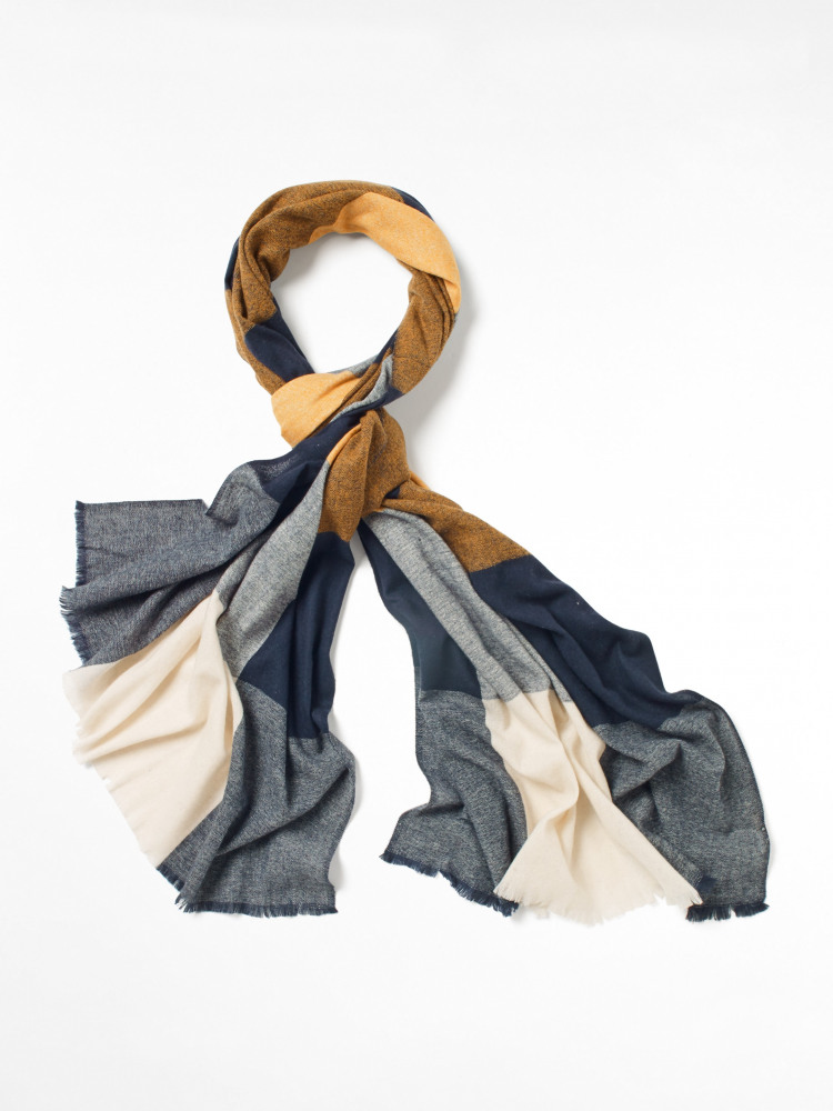 Recycled Check Midweight Scarf