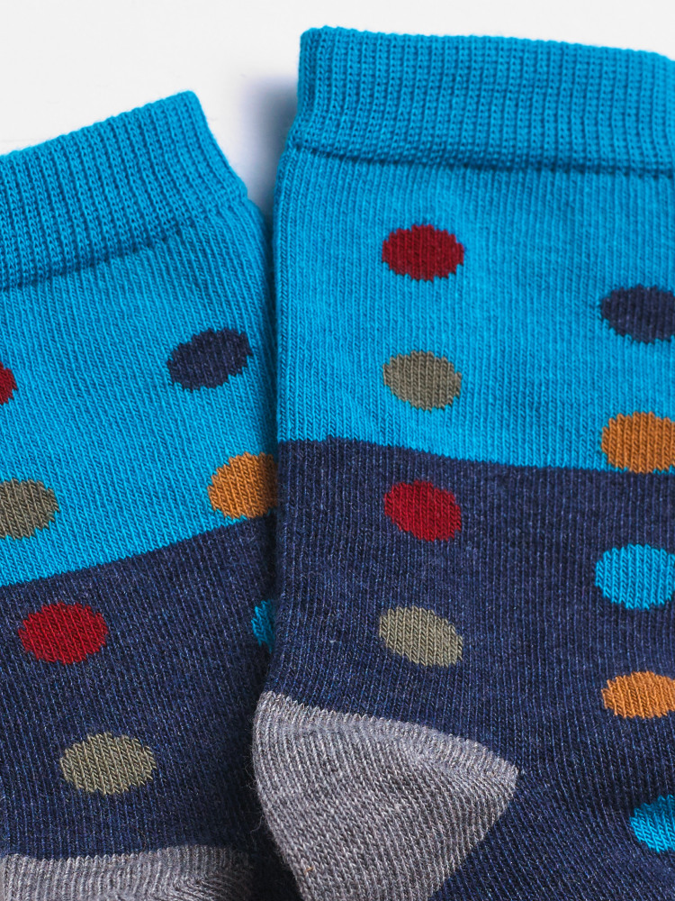 Mini Me Colourblock Spot Socks