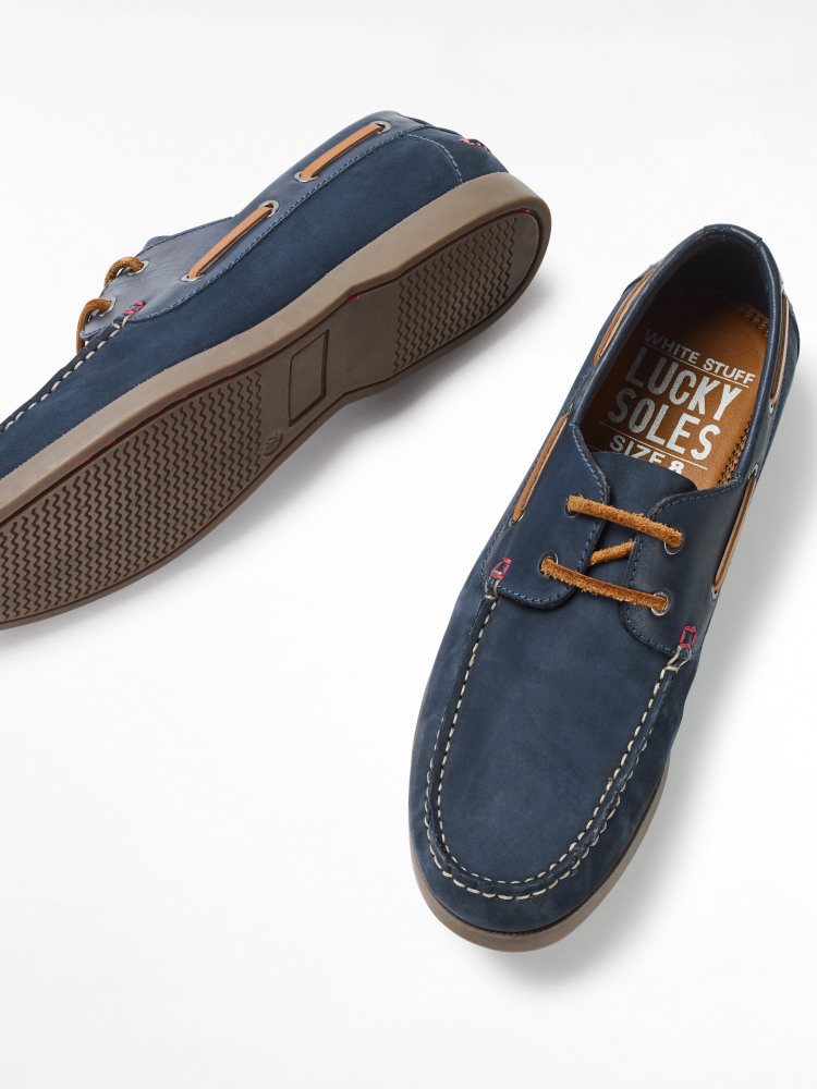 Mens Leather Boat Shoe