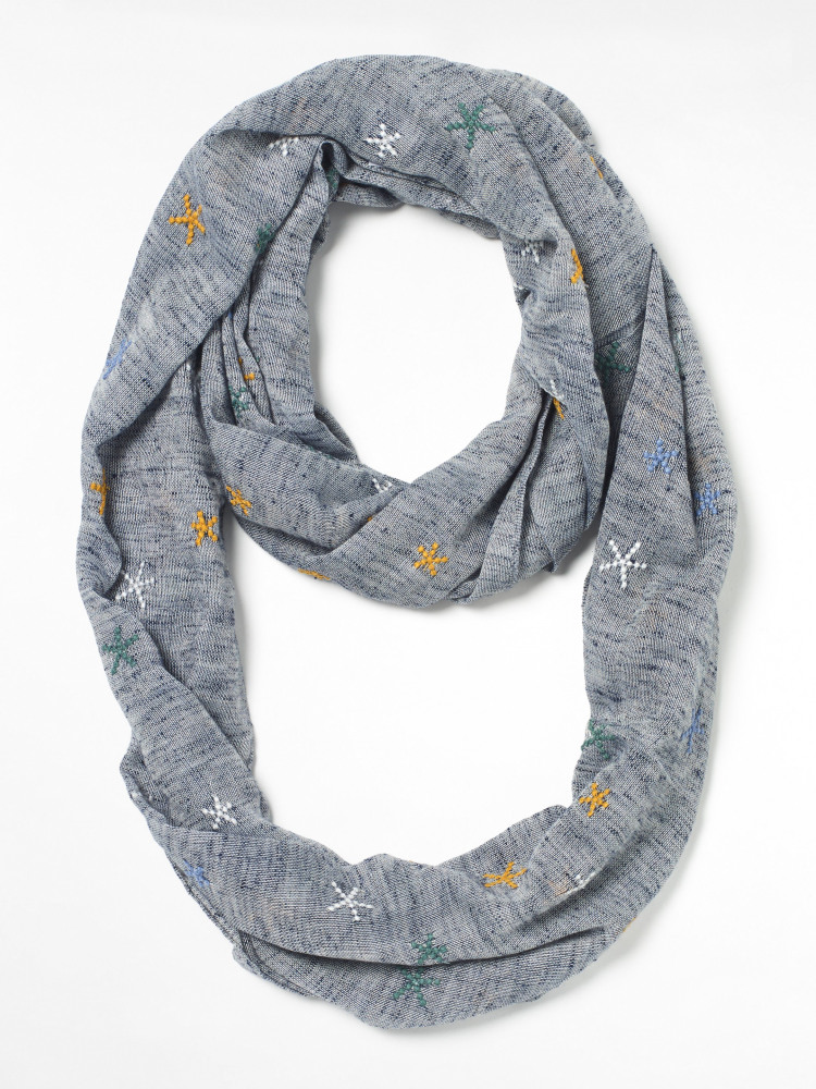 Chambray Embroided Snood