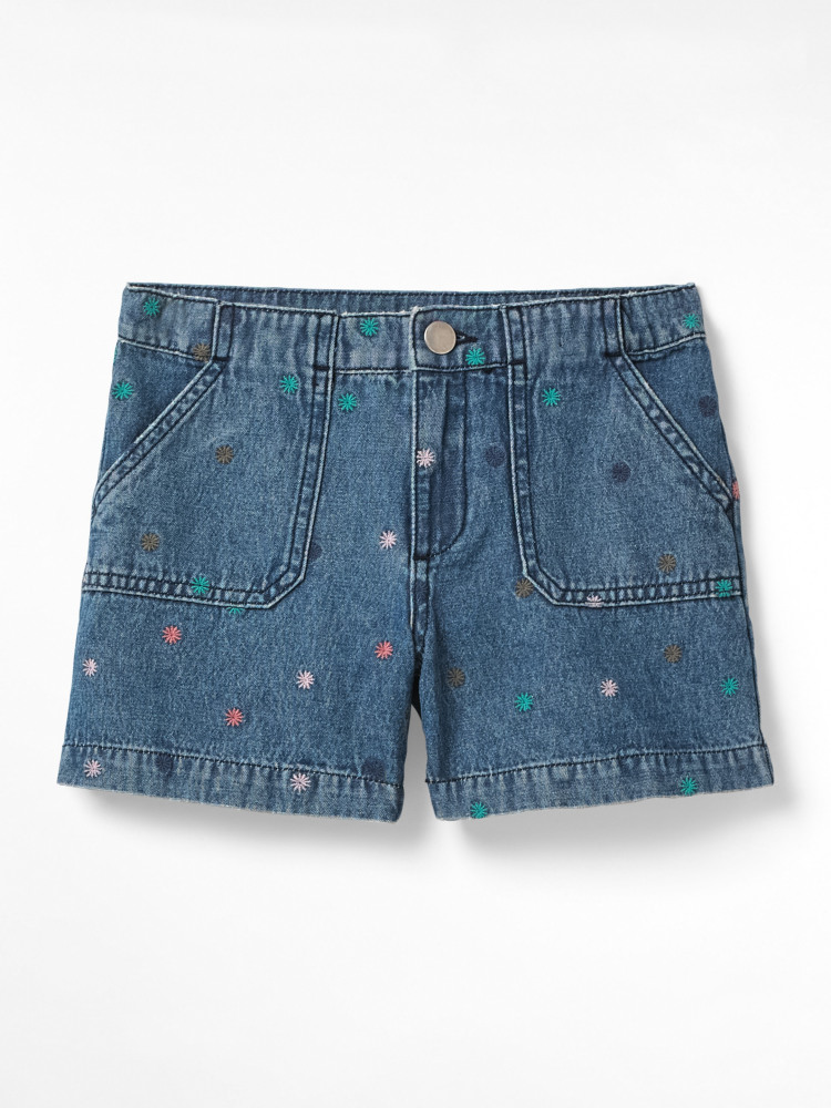 Mini Effie Embroidered Shorts