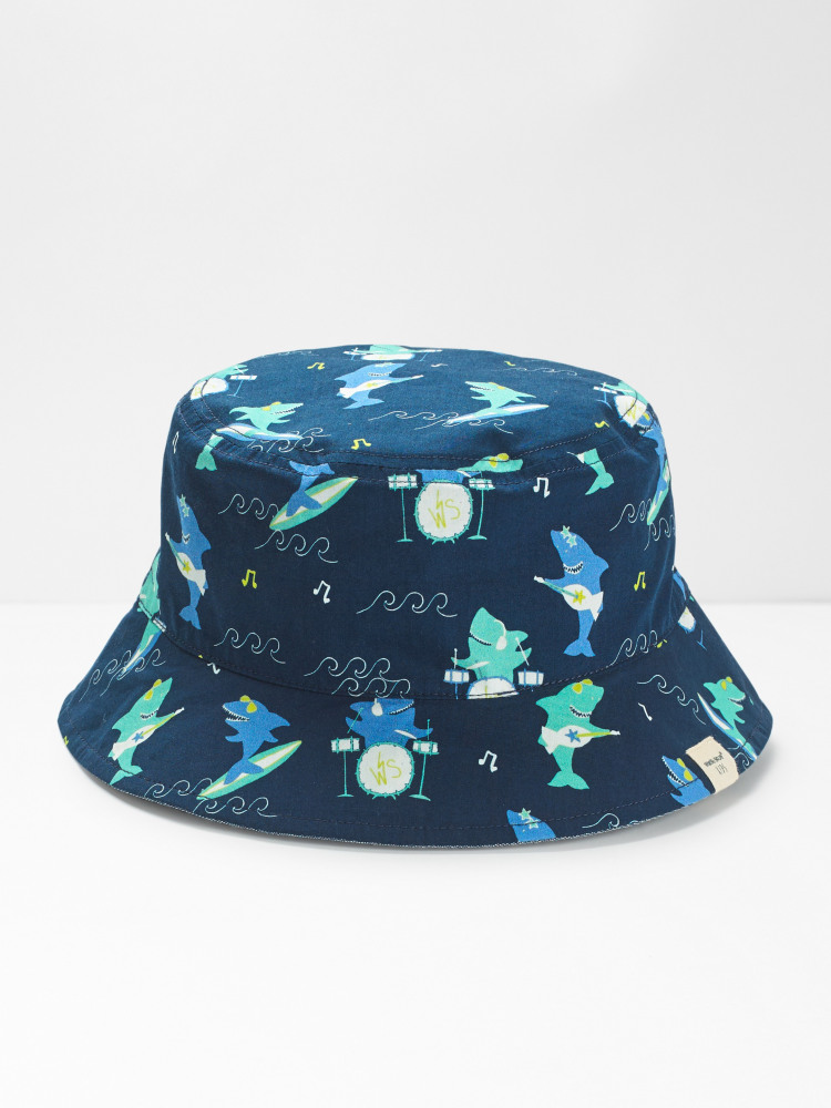 Kids Shark Reversible Hat