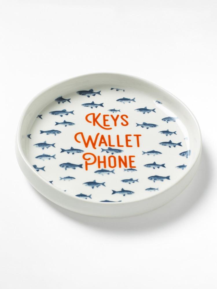 Keys Wallet Trinket Tray White Multi White Stuff