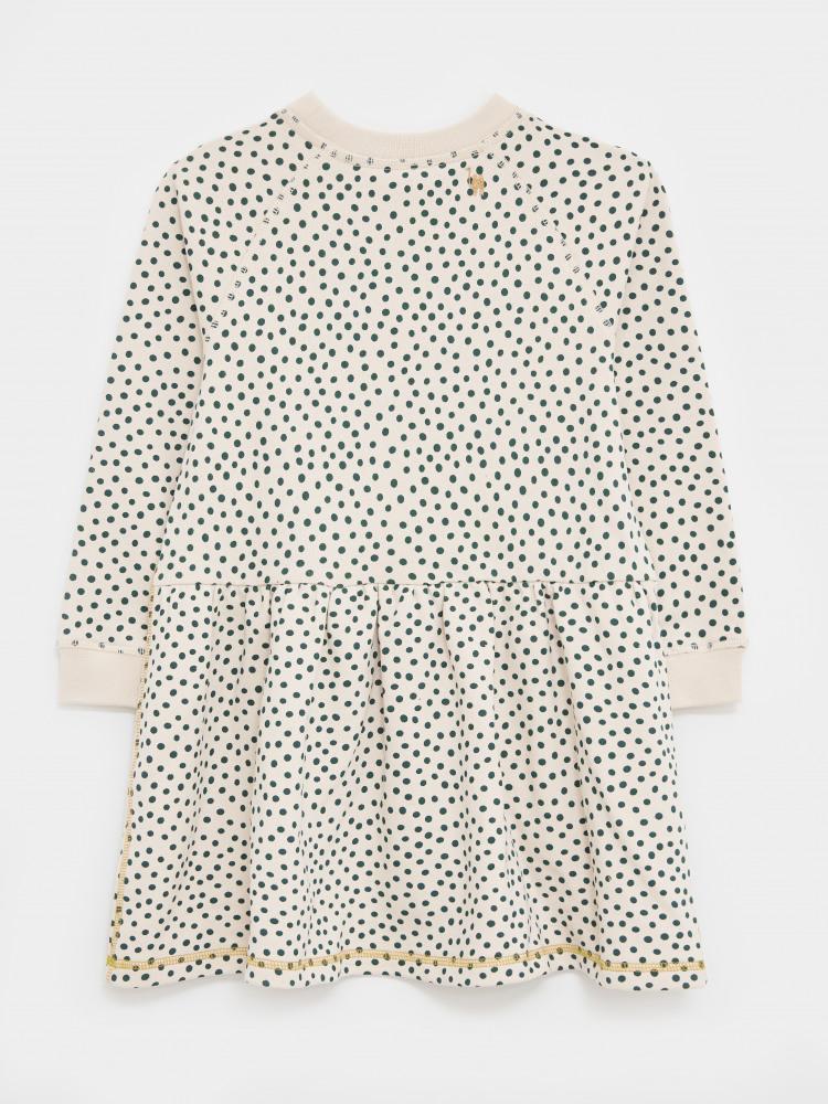 Sally Spot Jersey Sweat Dress
