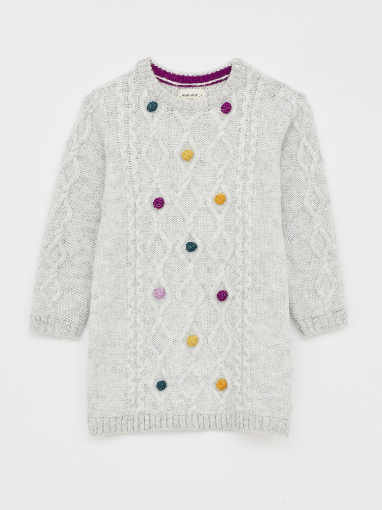 Cosy Cable Pom Jumper Dress
