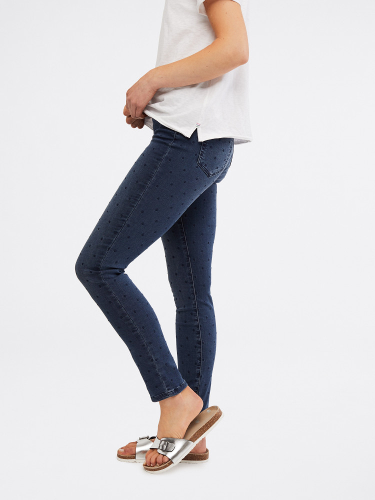 Jade Embroidered Jegging Jean