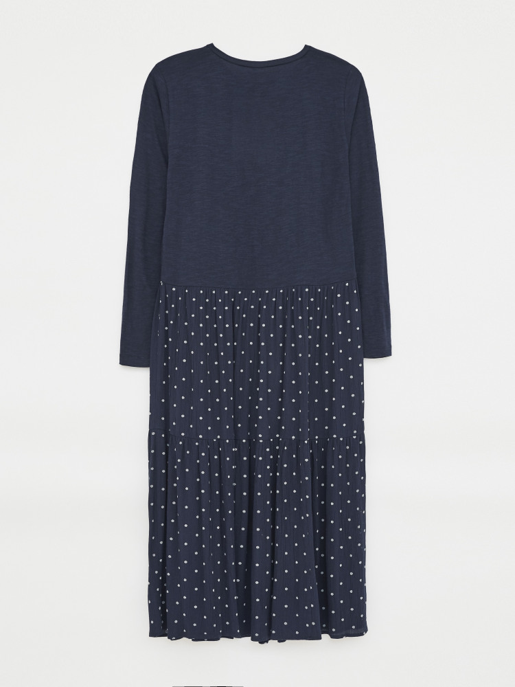 Hayne Jersey Woven Dress
