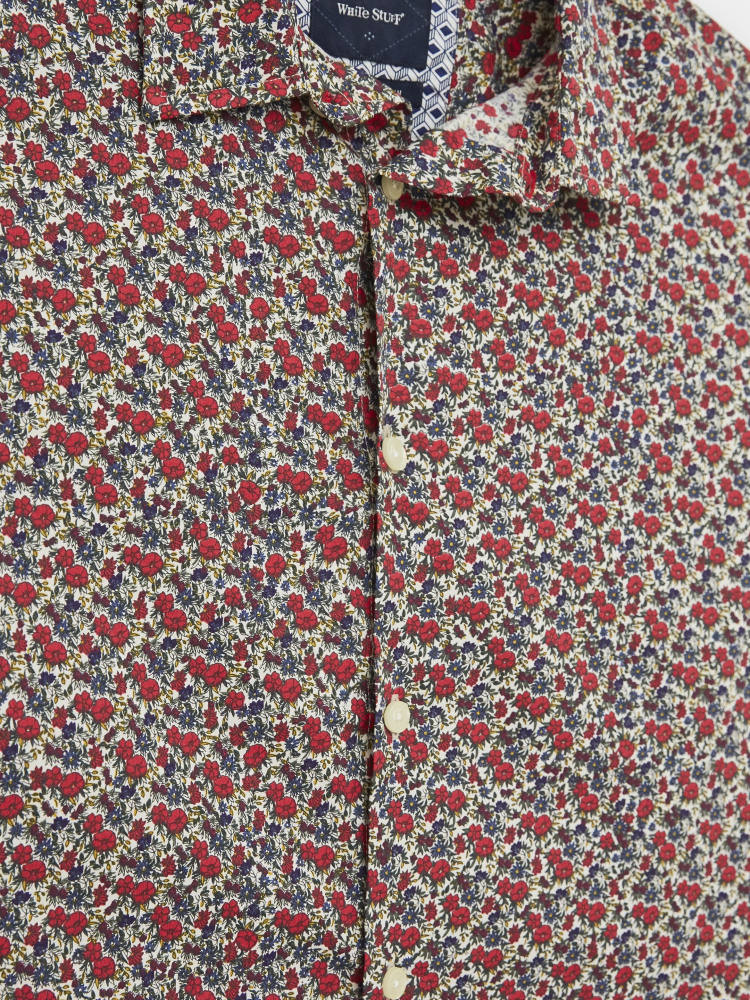Retro Flower Print Shirt